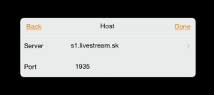 nastavenie adresy servera